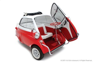 Isetta with door open