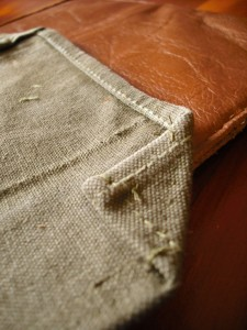 Canvas flap for iPad sleeve